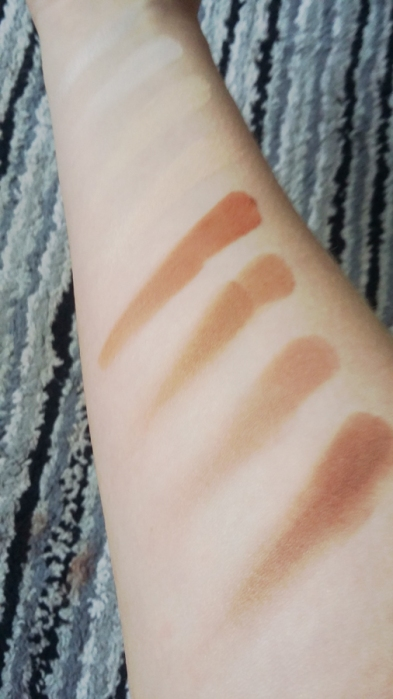NYX Contour Kit swatches