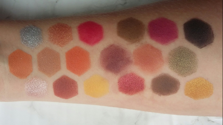 Revolution x Soph Extra Spice swatches