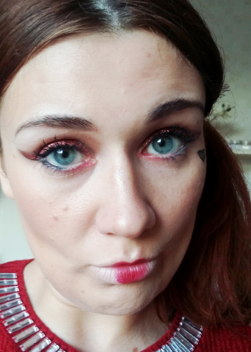 Queen of Hearts makeup 02