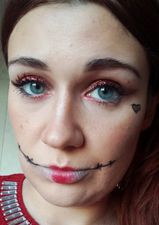 Queen of Hearts makeup stitches
